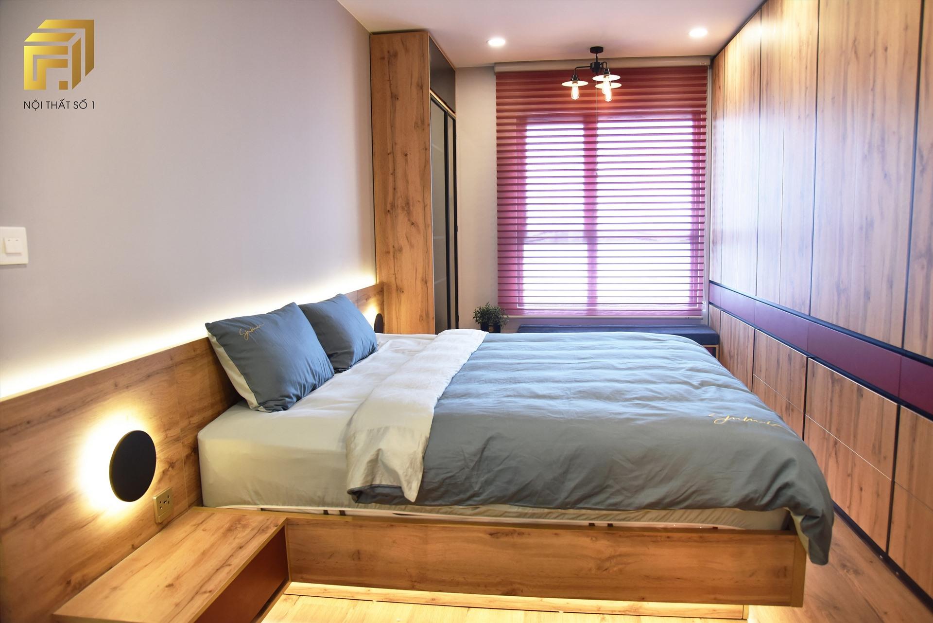 Giường ngủ lớn được trực tiếp sản xuất tại Nhà máy Nội thất F1 (Lương Sơn, Hòa Bình)