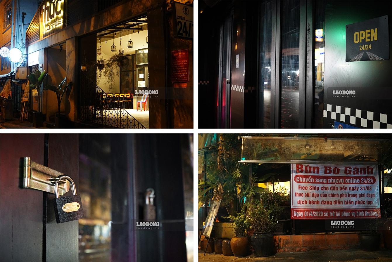 """""""Cửa khoá, then cài"""" là tình trạng chung của các cửa hàng kinh doanh ở Hà Nội và TPCM nhiều ngày nay. Nhiều cửa hàng đã chuyển sang hình thức kinh doanh online trong màu dịch COVID-19."""