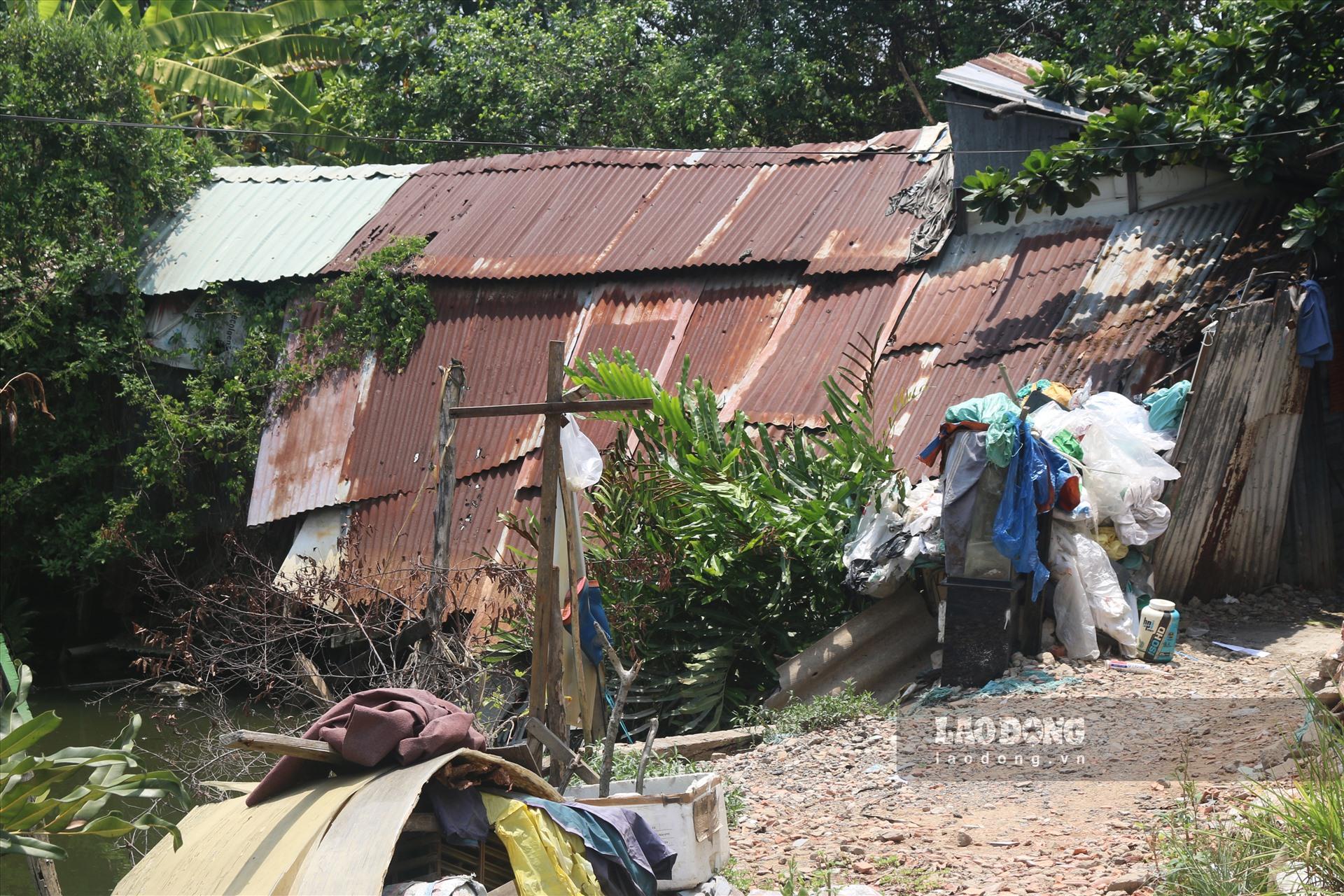 Nhà trọ của những người dân nghèo.