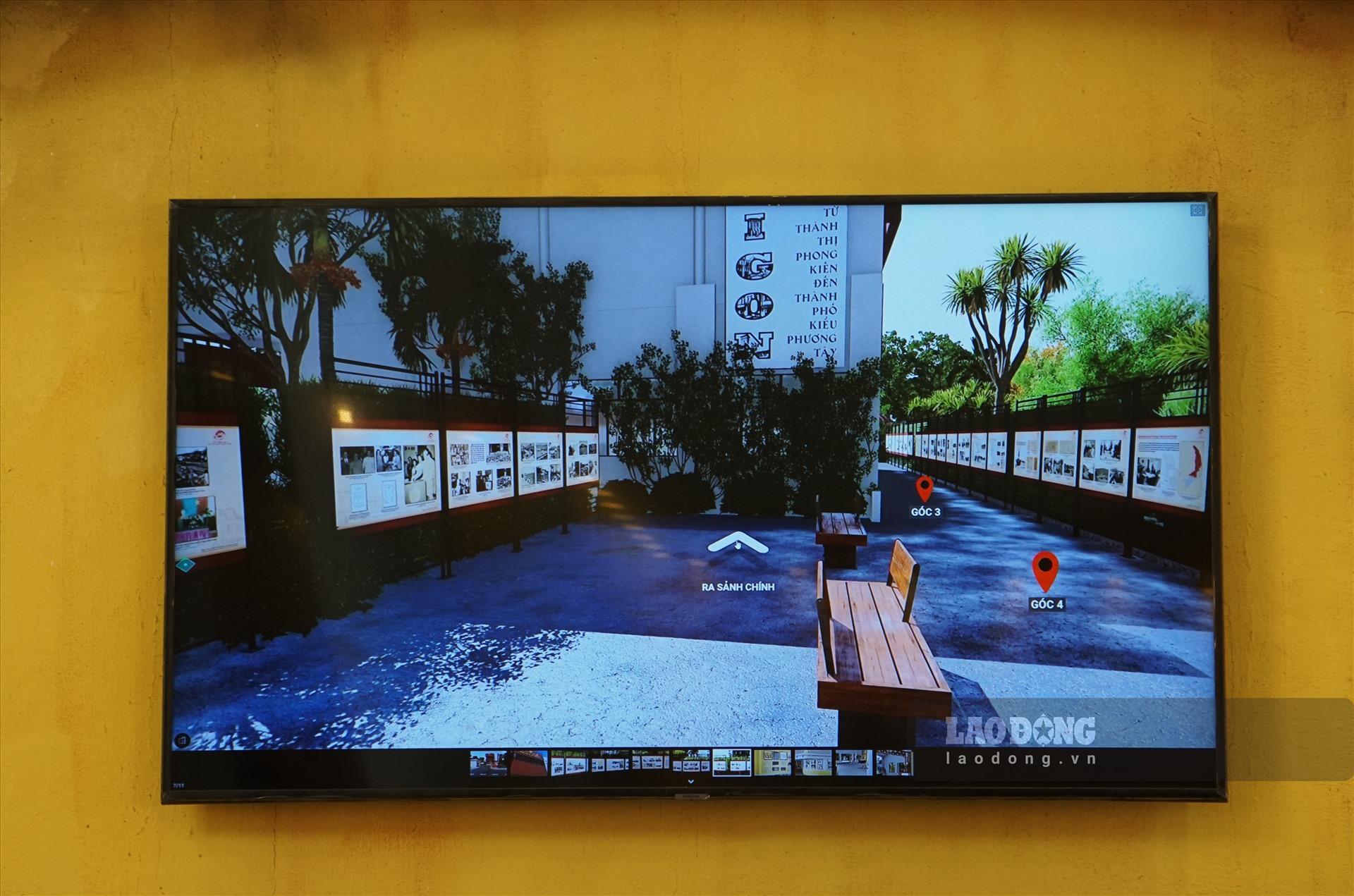 Công nghệ thực tế ảo 360 VR giúp khán giả xem có thể xem triển lãm và tài liệu trưng bày ngay tại nhà. Ảnh: Thanh Chân.