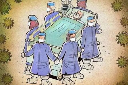 Xúc động bộ tranh khắc hoạ cuộc chiến chống COVID-19 của y bác sĩ