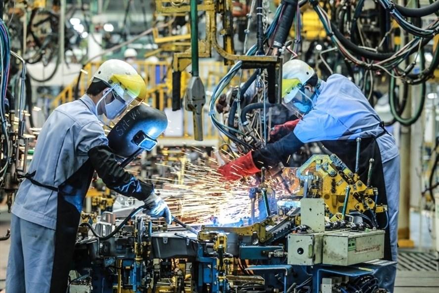 Dây chuyền sản xuất ôtô của một doanh nghiệp có vốn đầu tư FDI tại Việt Nam. Ảnh: P.Mai