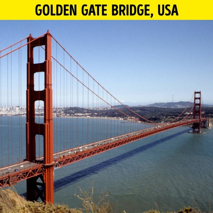 Ảnh 3: Cầu Cổng Vàng, Mỹ. Ảnh: East News