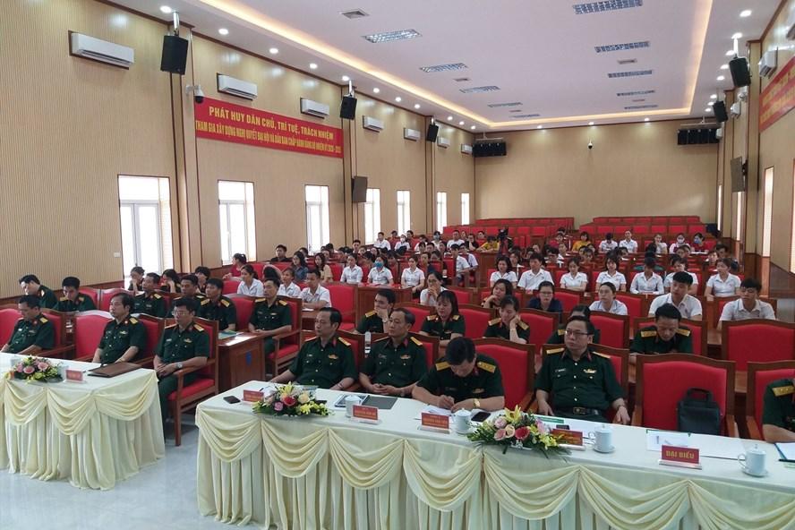 Hội nghị công bố Quyết định thành lập CĐCS Bệnh viện Quân y 105. Ảnh: Ngọc Anh