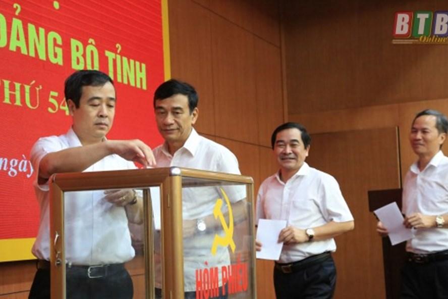 Ông Ngô Đông Hải được bầu giữ chức Bí thư Tỉnh ủy Thái Bình nhiệm kì 2015-2020. Ảnh Thành Tâm