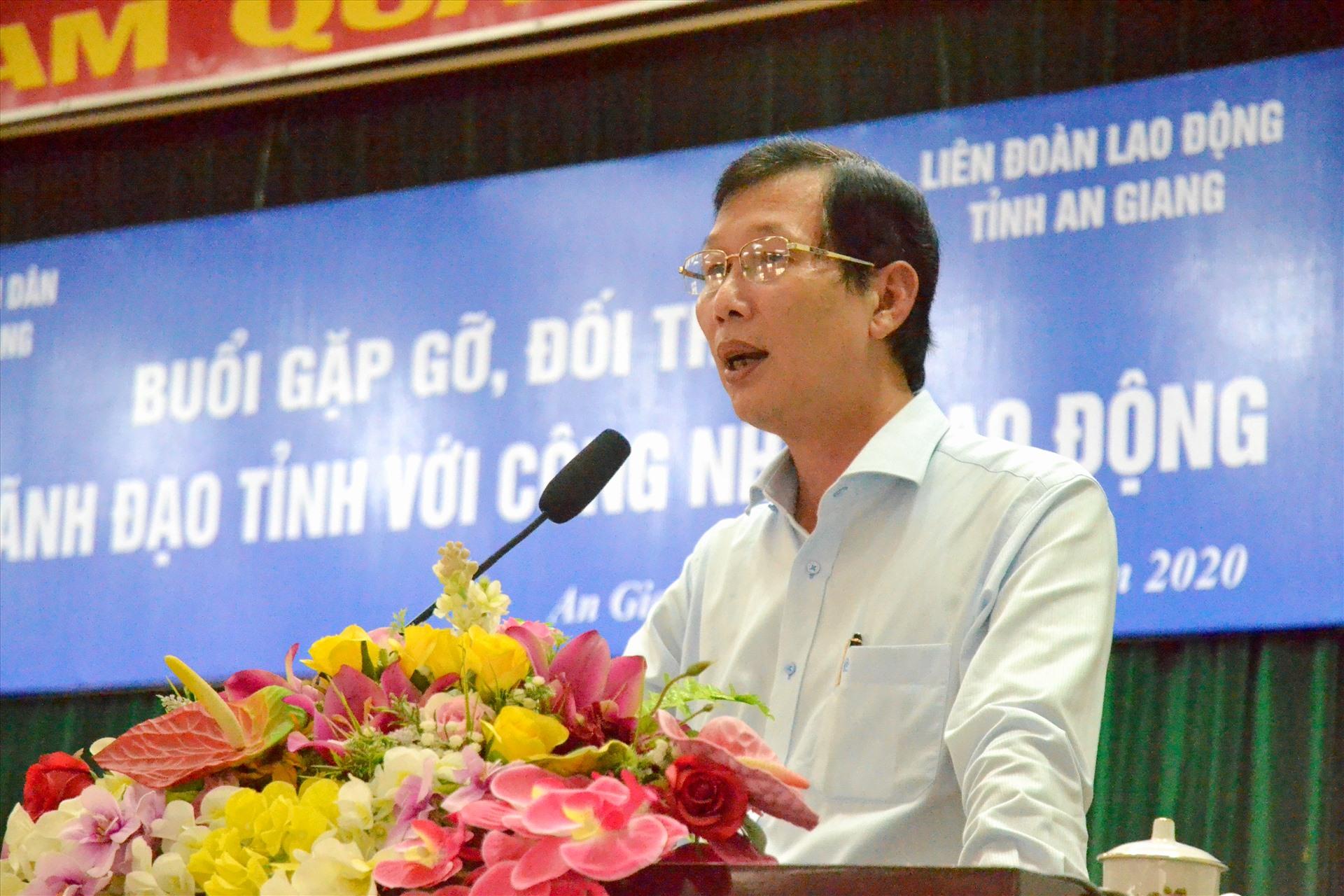 Phó Chủ tịch UBND tỉnh An Giang Lê Văn Phước phát biểu tại sự kiện. Ảnh: LT