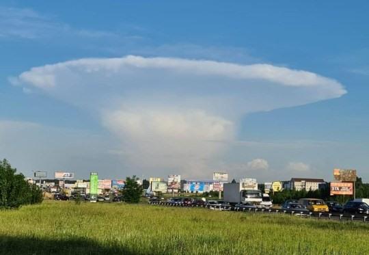 Mây vũ tích đã từng xuất hiện tại một số nơi ở Ukraina. Ảnh: CEN