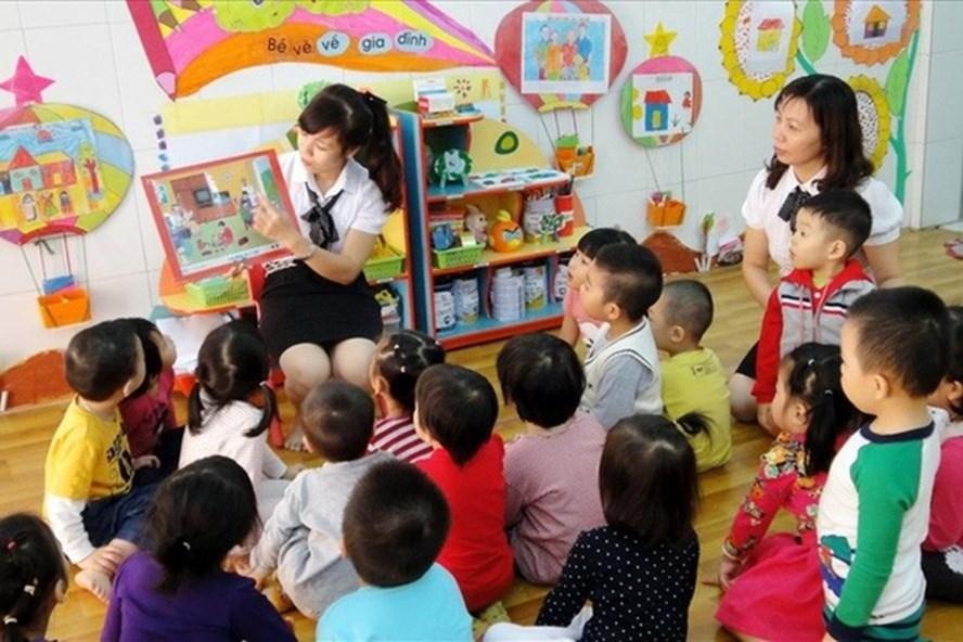Một giờ giảng của giáo viên mầm non tại Hà Nội. Ảnh: Hải Nguyễn