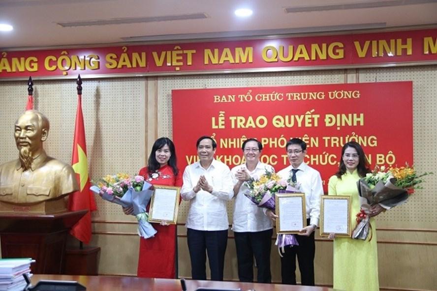 3 Phó Viện trưởng Viện Khoa học tổ chức, cán bộ (Ban Tổ chức Trung ương) vừa được bổ nhiệm. Ảnh Ngọc Anh