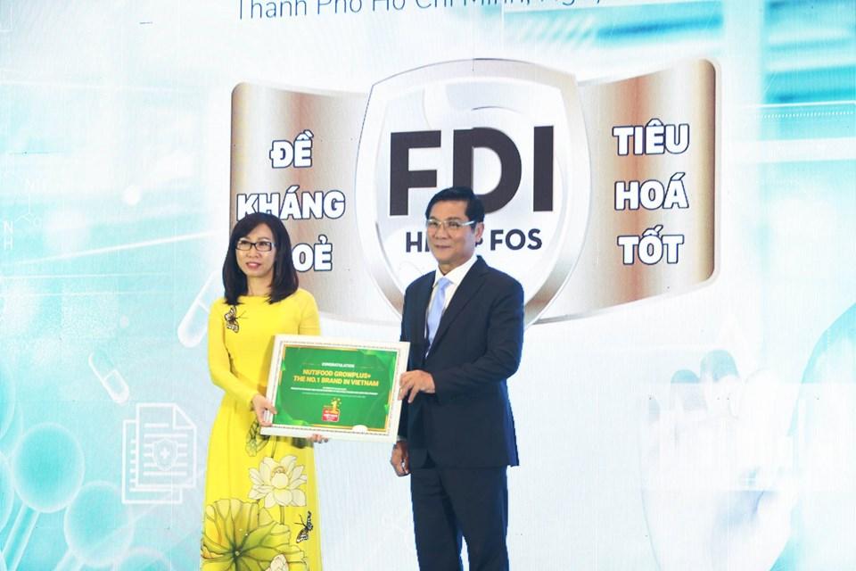 NutiFood trở thành Nhãn hiệu sữa trẻ em số 1 Việt Nam.