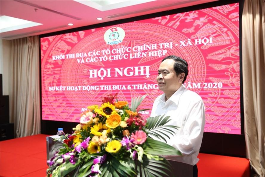 Bí thư Trung ương Đảng, Chủ tịch Uỷ ban Trung ương Mặt trận Tổ quốc Việt Nam Trần Thanh Mẫn. Ảnh Dương Giang