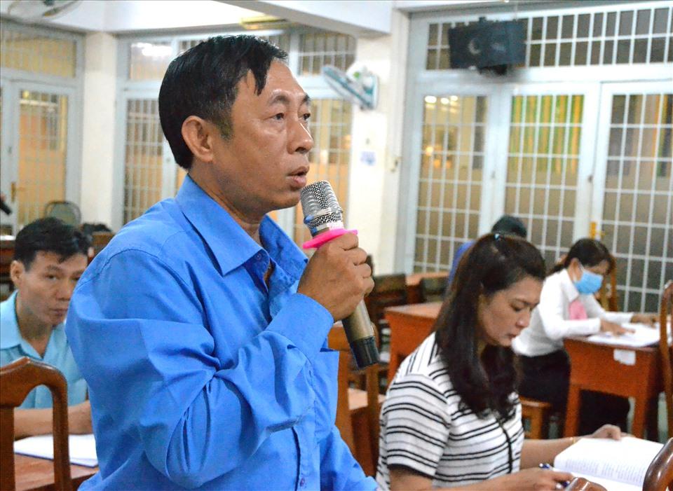 Chủ tịch LĐLĐ Phú Tân Trần Ngọc Trung. Ảnh: LT
