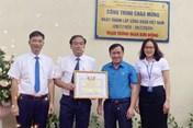 Bắc Giang: Gắn biển công trình chào mừng ngày thành lập Công đoàn Việt Nam