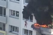 Pháp: Thót tim giải cứu 2 em bé nhảy xuống từ căn hộ bốc cháy dữ dội