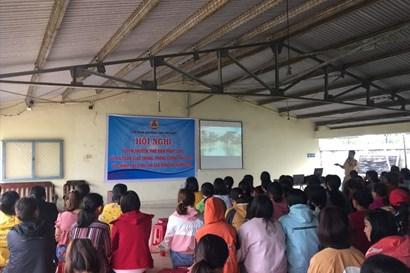 LĐLĐ tỉnh Lâm Đồng: Tuyên truyền chính sách pháp luật đối với lao động nữ