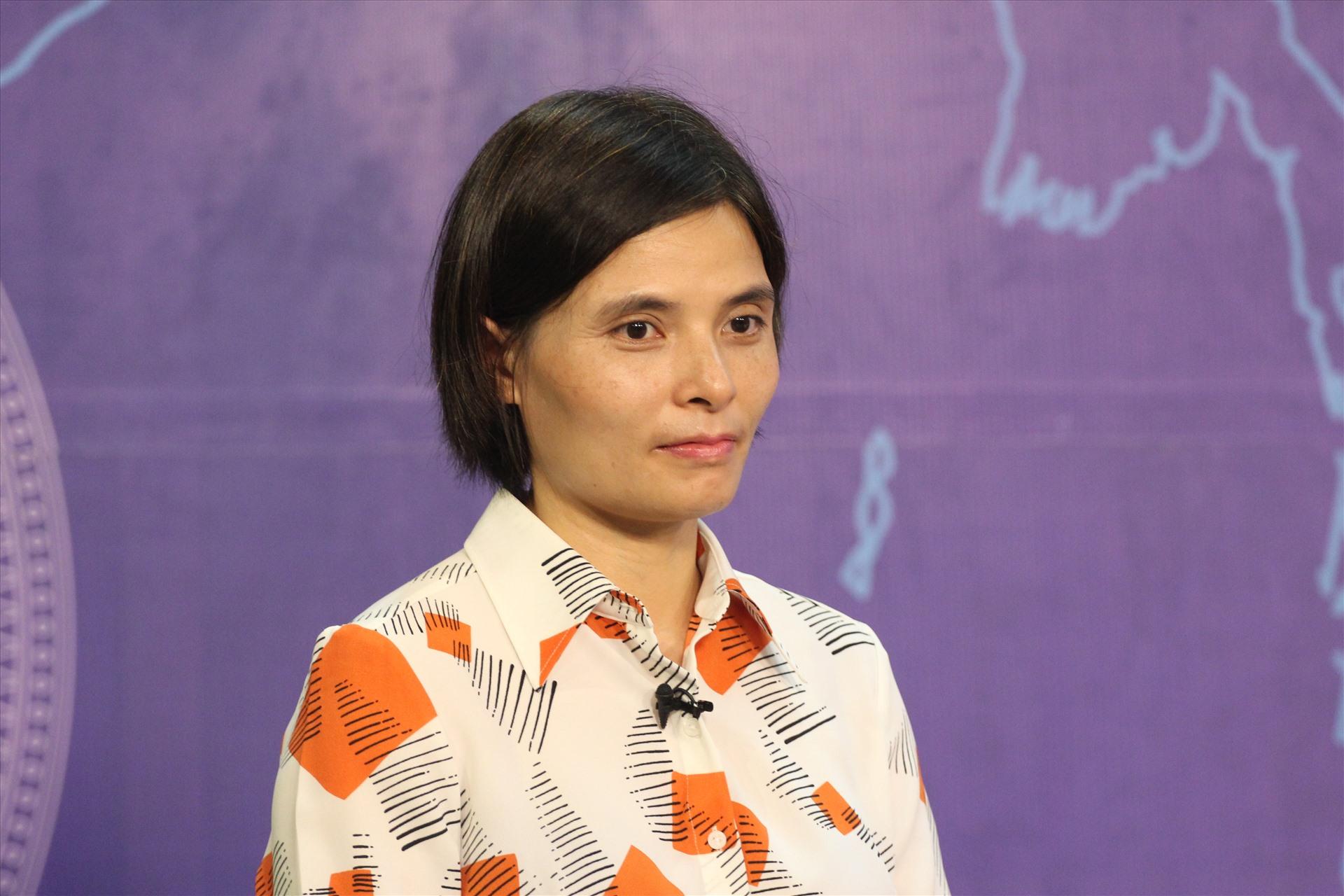 Bà Nguyễn Minh Thảo - Trưởng ban Nghiên cứu môi trường kinh doanh và năng lực kinh doanh, Viện Nghiên cứu Quản lý kinh tế Trung ương. Ảnh T.Vương