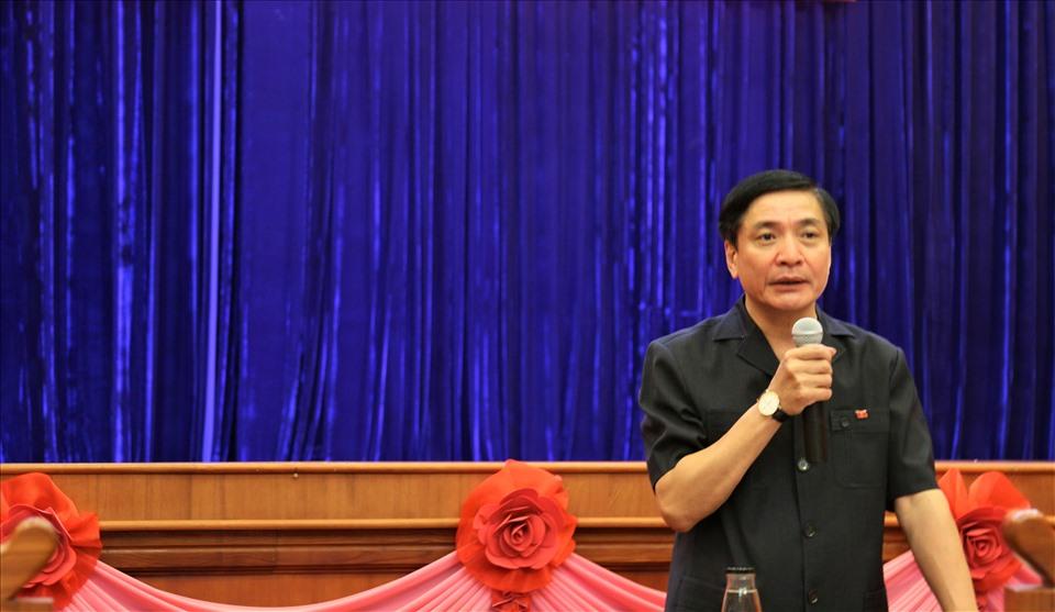 Bí thư Đắk Lắk Bùi Văn Cường phát biểu tại Hội nghị. Ảnh Bảo Trung