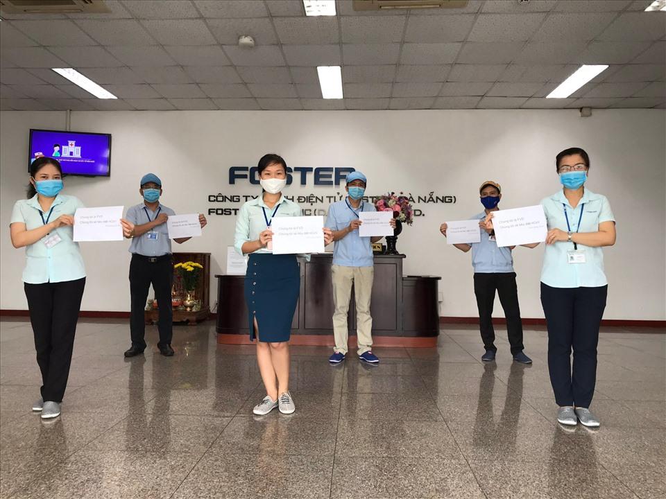 Ban phòng chống dịch COVID-19 của Công ty TNHH Điện tử Foster Việt Nam. Ảnh: NGuyễn Minh Vũ