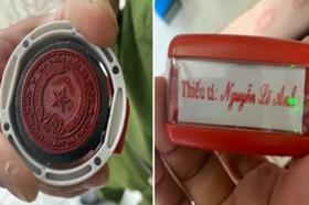 Bắt khẩn cấp đối tượng làm giả con dấu của Công an TP.Biên Hoà