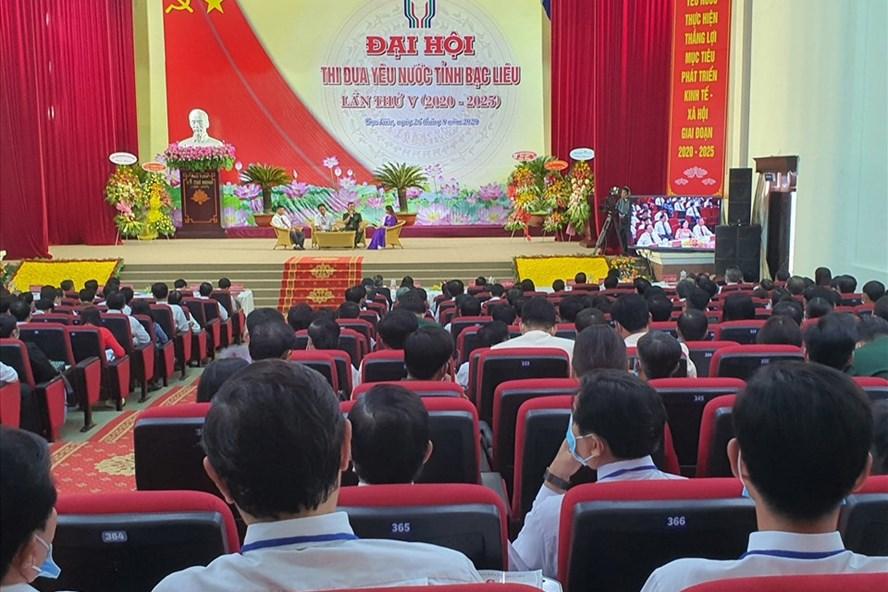 Đại hội thi đua yêu nước tỉnh Bạc Liêu lần thứ V ngày 26.8 (ảnh Nhật Hồ)