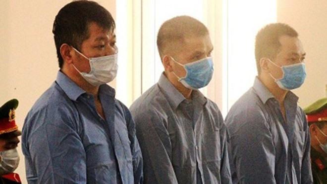 Ba bị cáo bị tuyên án tử trong vụ án vận chuyển ma túy. Ảnh: Công an cung cấp