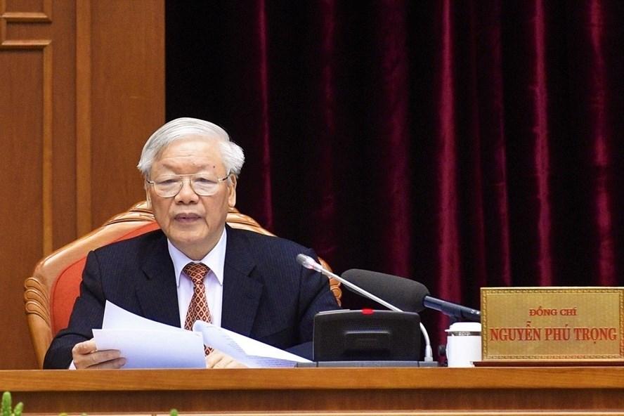 Tổng Bí thư, Chủ tịch Nước Nguyễn Phú Trọng. Ảnh Nhật Bắc