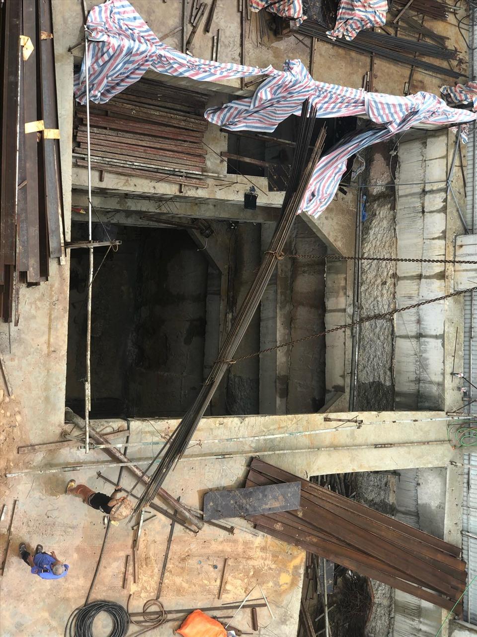 Nhà ở riêng lẻ có 4 tầng hầm ở Hà Nội. Ảnh: Ngô Cường