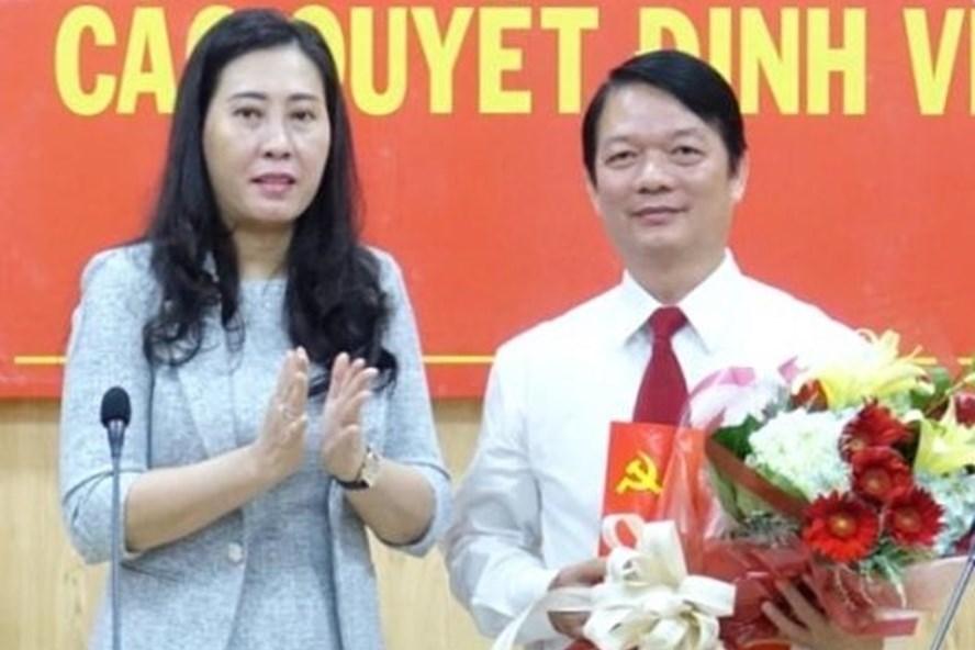 Ông Phạm Thanh Tùng trong buổi công bố nhận chức Trưởng ban Tổ chức Tỉnh ủy Quảng Ngãi. Ảnh: Báo Quảng Ngãi