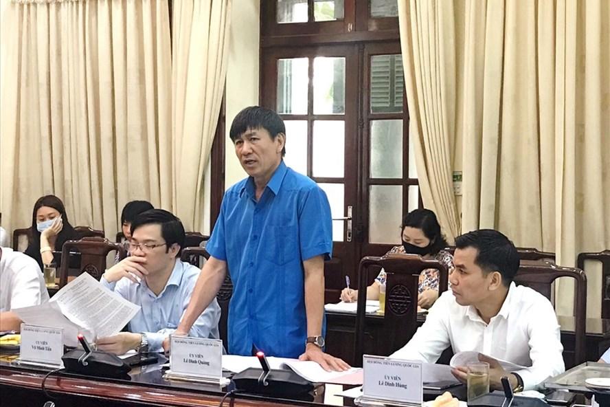 Ông Lê Đình Quảng - Phó Trưởng Ban Quan hệ lao động (Tổng Liên đoàn lao động Việt Nam-đại diện người lao động). Ảnh: Anh Thư