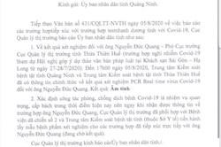 """Một cán bộ dự hội nghị âm tính với SAR-CoV-2, Quảng Ninh """"thở phào"""""""