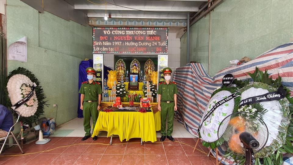 Lễ truy điệu Thượng sĩ Nguyễn Văn Mạnh. Ảnh: N. Chương