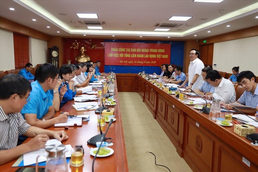 Buổi làm việc về công tác đối ngoại diễn ra chiều 16.9. Ảnh: Hải Nguyễn