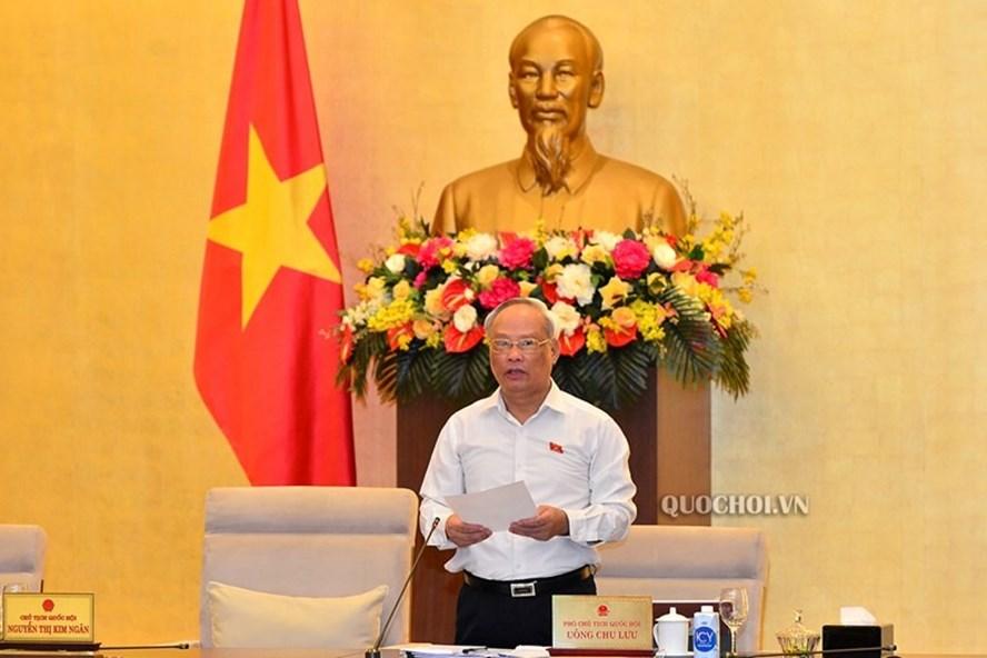 Phó Chủ tịch Quốc hội Uông Chu Lưu kết luận phiên thảo luận. Ảnh Quochoi.vn