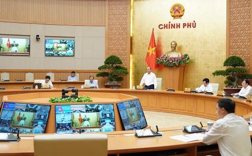 Cuộc họp của Thường trực Chính phủ về công tác phòng chống dịch COVID-19. Ảnh: VGP/Quang Hiếu