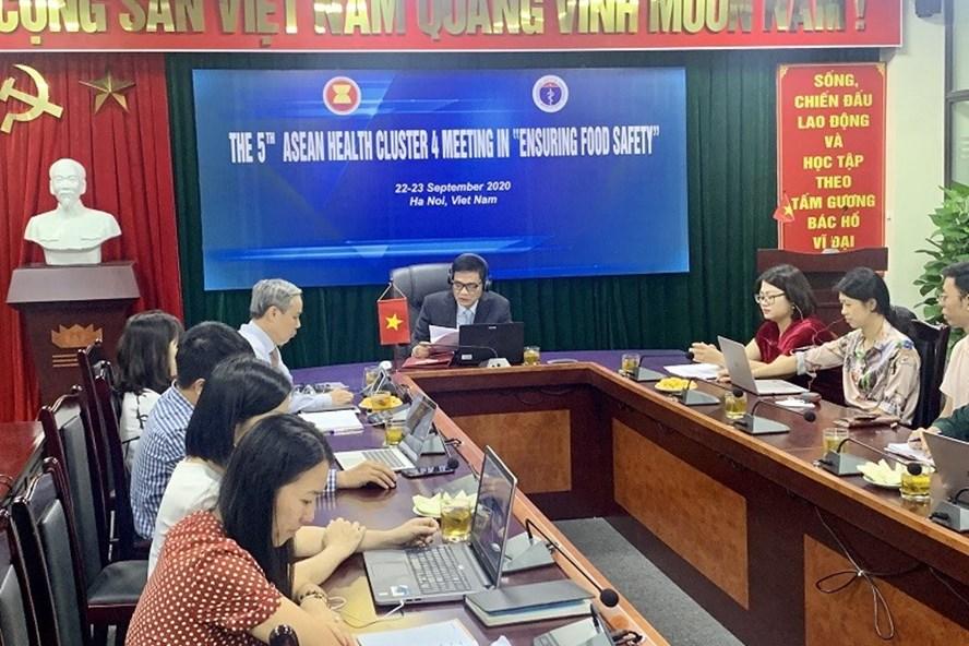 Cuộc họp Hợp phần 4 của ASEAN về đảm bảo an toàn thực phẩm. Ảnh: VFA