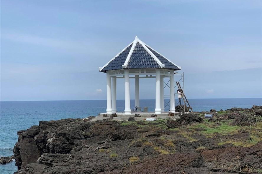 Công trình được xây dựng trên đảo Bé Lý Sơn. Ảnh: Thanh Chung
