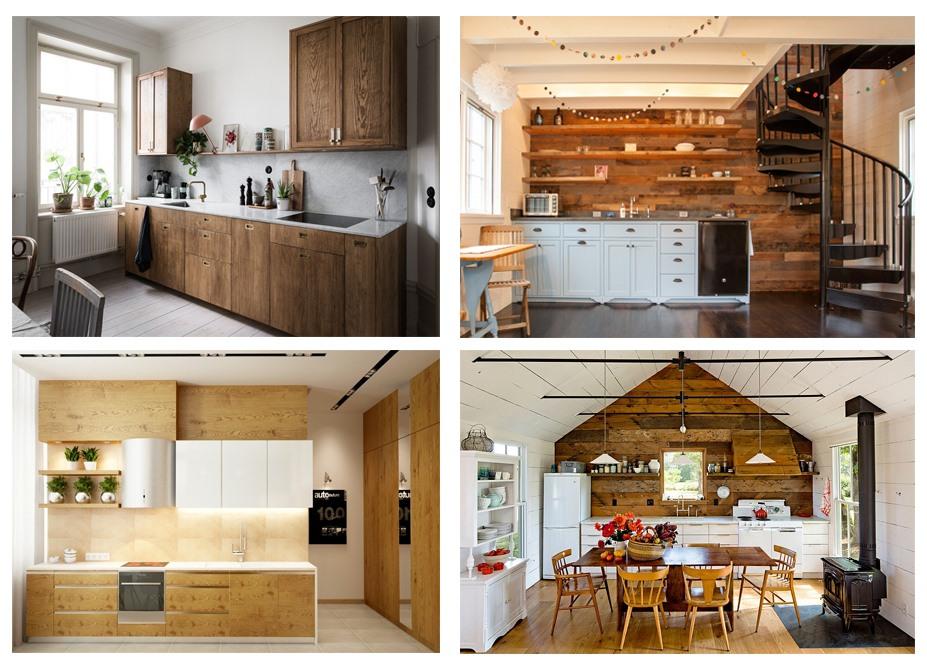 Nội thất nhà bếp bằng gỗ