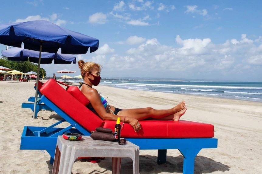 Bali vắng bóng khách du lịch quốc tế do đại dịch. Ảnh: AP.