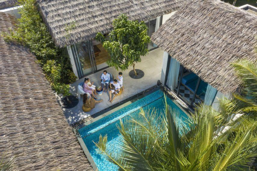 New World Phu Quoc Resort được thiết kế theo phong cách làng biển độc đáo. Ảnh: Hà