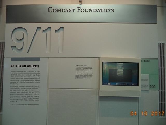 Trong Bảo tàng Báo chí ở Washington DC (Newseum)