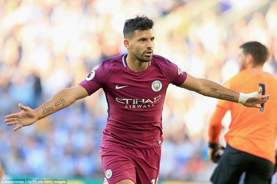 Aguero đã góp phần mang về chiến thắng cho Man City. Ảnh: Getty Images.