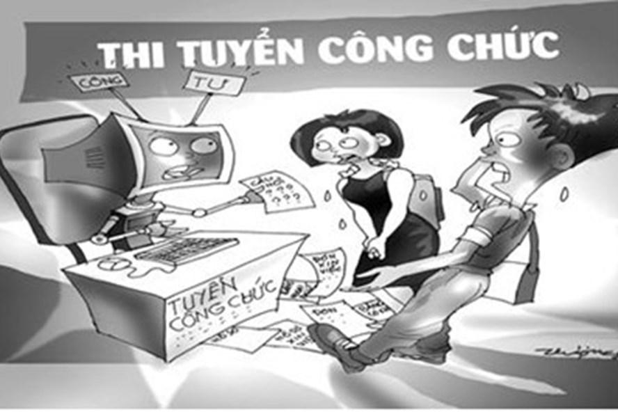 Các cuộc thi tuyển công chức tại một số cơ quan Nhà nước gần đây đều bị tố thiếu minh bạch (Ảnh minh họa, theo Tuyencongchuc.vn)