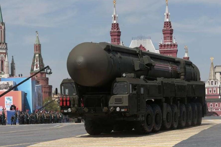 Tên lửa đạn đạo liên lục địa hạt nhân RS-24 Yars. Ảnh: B.I