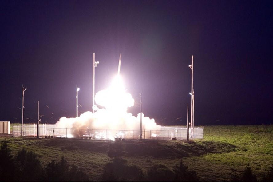 Hình ảnh THAAD bắt đầu triển khai đánh chặn mục tiêu. Ảnh: MDA