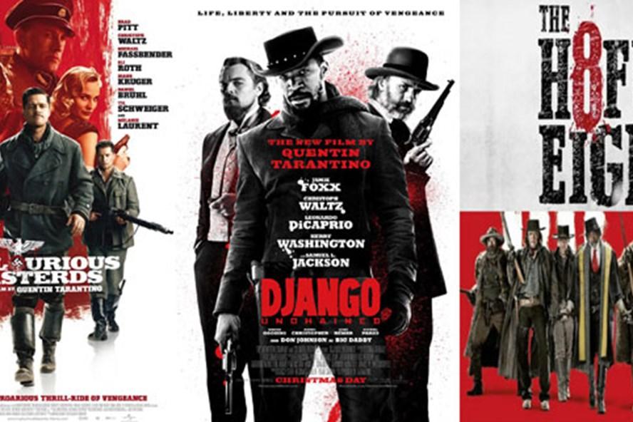 Poster những phim đình đám của Quentin Tarantino. Ảnh: P.V