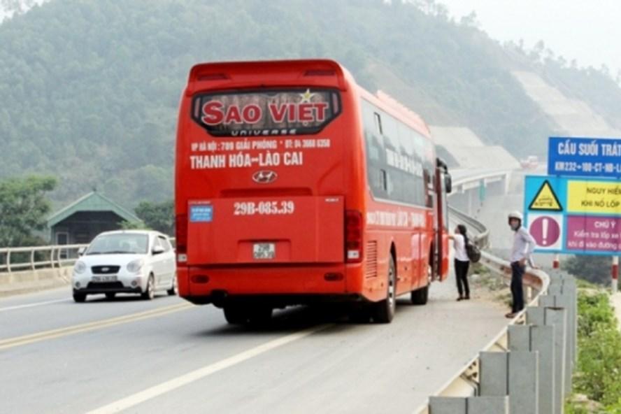 Dừng xe trái quy định trên đường cao tốc bị phạt 6 triệu đồng (Ảnh: baogiaothong)