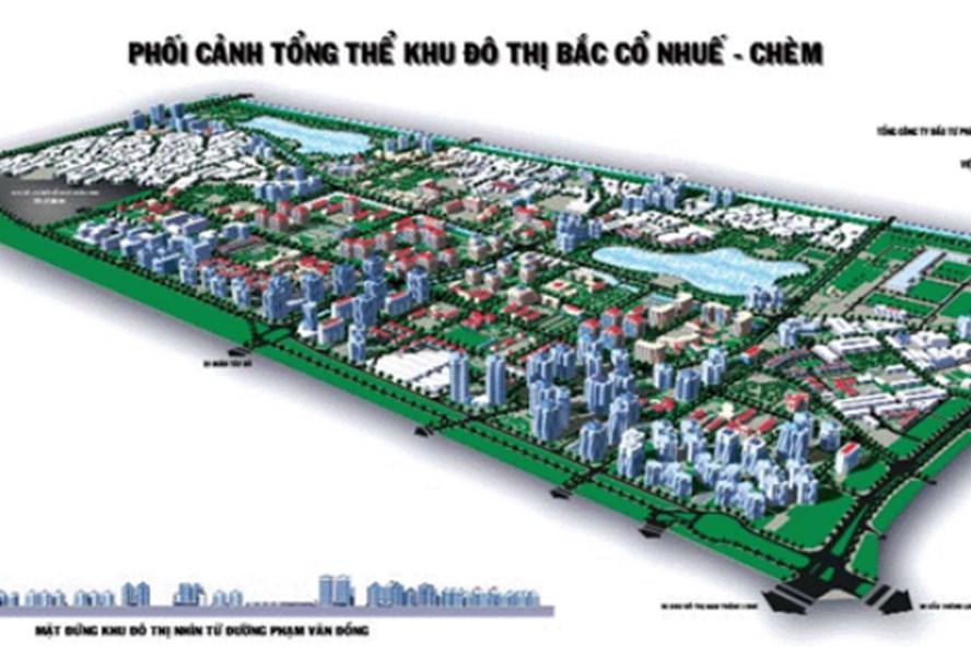 Phối cảnh một khu đô thị tại Bắc Từ Liêm