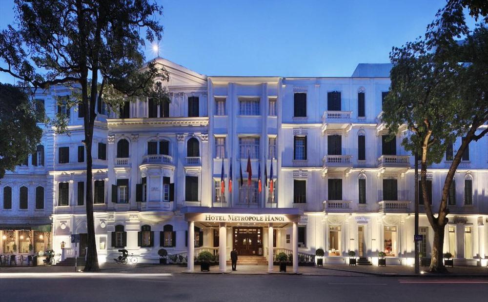 Khách sạn Metropole - nơi Giggs và Scholes sẽ tới sau khi đáp chuyến bay xuống Nội Bài.