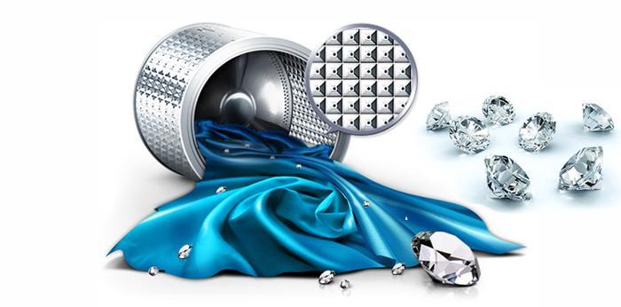 Lồng giặt kim cương độc đáo tăng hiệu quả giặt sạch