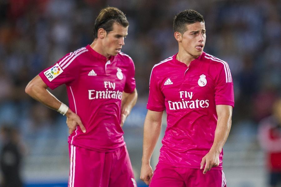 Bale và James cũng không còn tương lai tại sân Bernabeu. Ảnh: Getty.